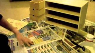 Decorating an ikea storage box