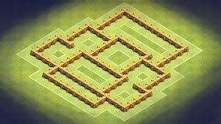 getlinkyoutube.com-Clash of Clans - TH5 Trophy Base, Clan War Base (KingsKeep) Balanced Defence