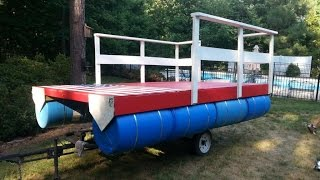 getlinkyoutube.com-Homemade Pontoon Boat 4
