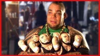 getlinkyoutube.com-Brodus Clay breaks through a wall for Mattel's Brawlin' Buddies