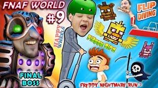getlinkyoutube.com-FNAF World #9 THE END BOSS? + Happy Wheels + Fnaffy Bird + Freddy's Nightmare & Flip Diving