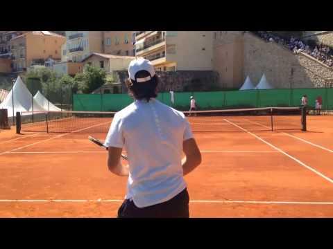 Rafael Nadal hitting with coach Carlos Moya  2017 Monte Carlo