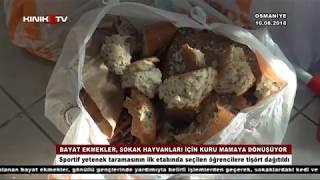 Bayat ekmekler, sokak hayvanları için kuru mamaya dönüşüyor