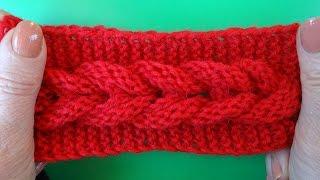 getlinkyoutube.com-Knitting pattern Узор Коса вязание спицами 7