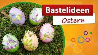 getlinkyoutube.com-Bastelideen Ostern 🐰 Ostereier verzieren | trendmarkt24 - kostenlose Bastelidee