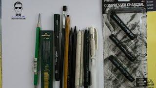 getlinkyoutube.com-ادوات الرسم بالفحم  drawing charcoal tools