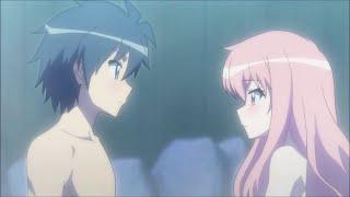 getlinkyoutube.com-Louise & Saito moments romantiques kiss scènes VOSTFR ~ Zero no Tsukaima