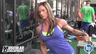 getlinkyoutube.com-IFBB  Figure PRO Dana Ambrose    Trains Delts