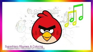 getlinkyoutube.com-Angry Birds Coloring for Children & animation Angry Birds !