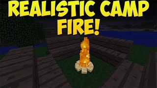 getlinkyoutube.com-Minecraft: How To Create A Realistic Campfire! | Campfire Tutorial! [Xbox & Playstation]