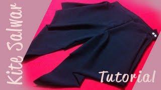 getlinkyoutube.com-♥ How to make a kite salwar ♥