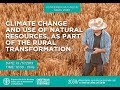 2030 Series - Webinar on Climate Change and use of Natural Resources