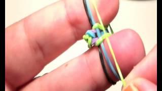 getlinkyoutube.com-como hacer pulsera de gomas rainbow loom con los dedos  muy facil  ESPAÑA