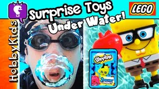 getlinkyoutube.com-Hawaii UNDERWATER Surprise Toys! Shopkins + LEGO Minifigs + Spongebob HobbyKidsTV