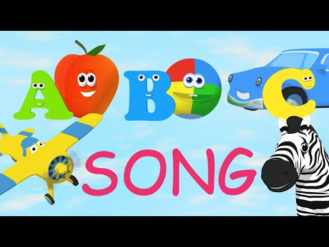 Fun Alphabet Song - Teaches TWO words per letter with animation!