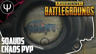 PLAYERUNKNOWN'S BATTLEGROUNDS — Squads Chaos PvP Gameplay!