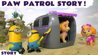 getlinkyoutube.com-Paw Patrol Skye's Magical Pup House Prank by naughty Minions   Fun family story for kids
