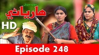 Hareyani Ep 248  Sindh TV Soap Serial    25 6 2018   HD1080p  SindhTVHD Drama