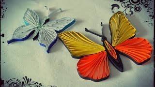 getlinkyoutube.com-How to Make Quilling Butterfly - Quilling Tutorial