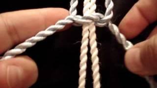 getlinkyoutube.com-macrame:Square Knot مكرمية :العقدة المربعة او المستقيمة
