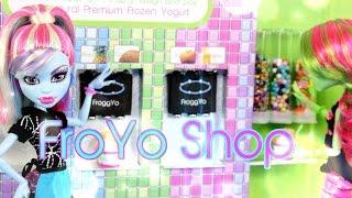 getlinkyoutube.com-DIY - How to Make:  Doll FroYo Shop - Handmade - Doll - Crafts