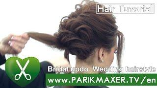 getlinkyoutube.com-Bridal updo. Wedding hairstyle. Victoria Skimbator ★★★★★  parikmaxer TV USA