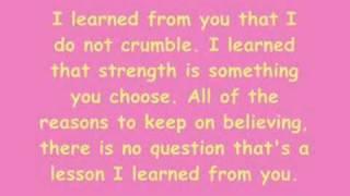 getlinkyoutube.com-Miley Cyrus And Billy - I Learned From You - Lyrics.
