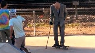 getlinkyoutube.com-Grandpa Pranks People at Skate Park!