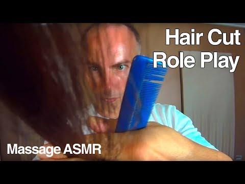 ASMR Hair Cut Role Play - Brushing, Head Massage & Little Water Spray