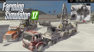 getlinkyoutube.com-Farming simulator 2017 Snowy log equipment Hauling