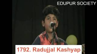 Singing by Radujjal Kashyap