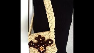 getlinkyoutube.com-CROCHET A SQUARE HIPPIE BAG, bohemian purse, satchel.