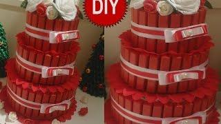 getlinkyoutube.com-Торт из конфет 2 подарок своими руками