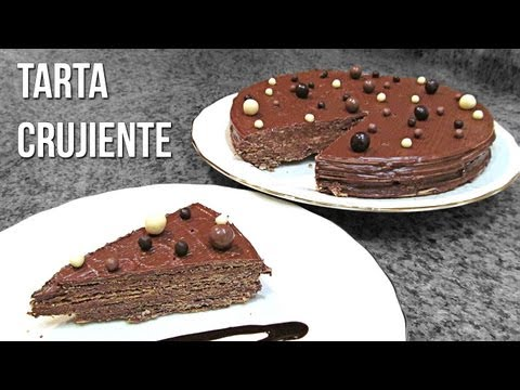 Tarta huesitos - Tarta crujiente de nutella y pan de angel