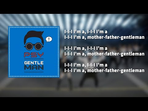 PSY - Gentleman ( KARAOKE - LYRICS - INSTRUMENTAL )