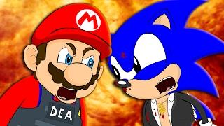 getlinkyoutube.com-MARIO VS SONIC - Animation Parody
