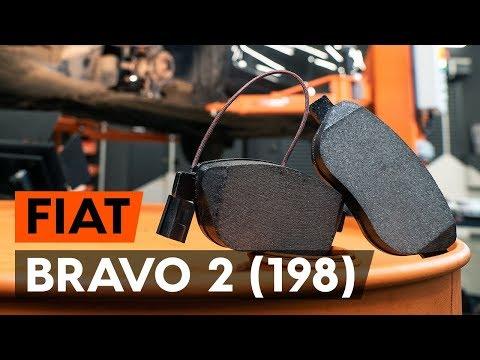 Как заменить тормозные колодки переднего дискового тормоза на FIAT BRAVO 2 (198) (ВИДЕОУРОК AUTODOC)
