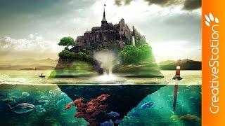 getlinkyoutube.com-Book Island - Speed art (#Photoshop)   CreativeStation