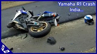 getlinkyoutube.com-Yamaha YZF-R1 Crash in Chennai India 2 killed! important safety message