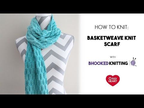 Basketweave Knit Scarf Tutorial