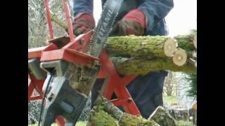 getlinkyoutube.com-Homemade firewood saw