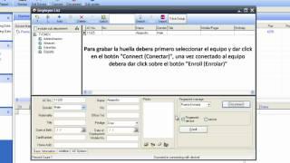 getlinkyoutube.com-ZK agregar usuario y capturar huella en Attendance Management