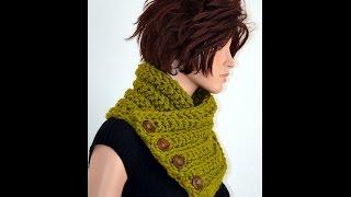 getlinkyoutube.com-Tutorial: How to Crochet a Neckwarmer using HDC