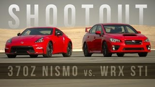 Shootout: Nissan 370Z Nismo vs. Subaru WRX STI are red-hot track toys