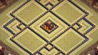 getlinkyoutube.com-Clash Of Clans - TH 10 War/Trophy Base - 275 Walls