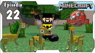 getlinkyoutube.com-Minecraft Jurassic Park #22: Mais Dinos no Parque! Triplo Gallimimus [Dino Cube]
