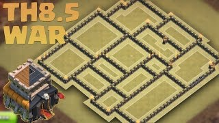 getlinkyoutube.com-Clash of clans - TH8.5 War base 2016 - Include Queen, Air defense, traps and teslas