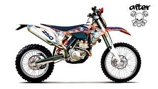 getlinkyoutube.com-Custom Graphics Start To Finish Example - KTM 2012