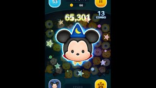 getlinkyoutube.com-Tsum Tsum - Sorcerer Mickey - Skill Level 6 Gameplay