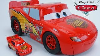 getlinkyoutube.com-DISNEY PIXAR CARS PISTON CUP TRANSFORMING LIGHTNING MCQUEEN TRANSFORMER RACE TRACK